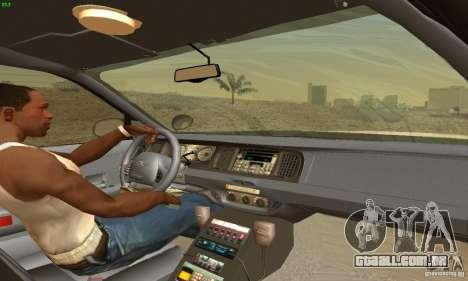 Ford Crown Victoria New Jersey Police para GTA San Andreas traseira esquerda vista