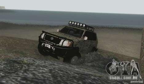 Toyota Land Cruiser 100 Off Road para vista lateral GTA San Andreas
