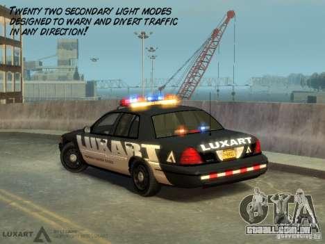 EMERGENCY LIGHTING SYSTEM V6 para GTA 4 quinto tela