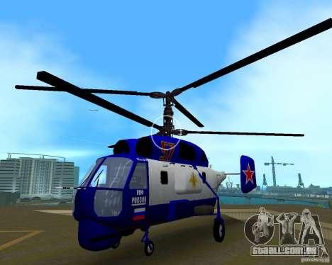 Ka-27 para GTA Vice City vista traseira