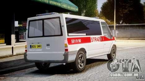 Ford Transit Polish Firetruck [ELS] para GTA 4 vista interior