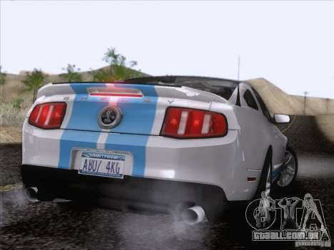 Ford Shelby Mustang GT500 2010 para o motor de GTA San Andreas