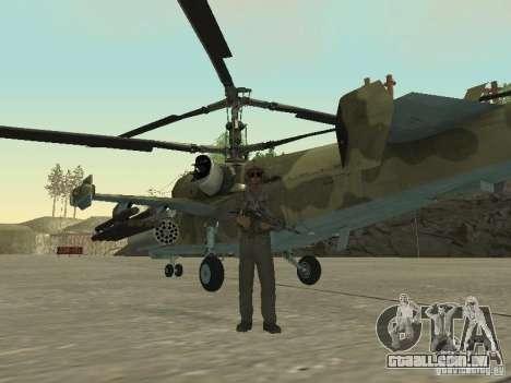 Ka-50 Black Shark para GTA San Andreas traseira esquerda vista