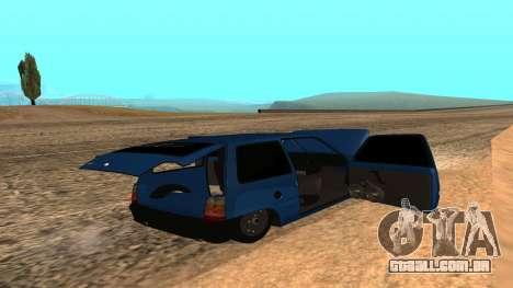 VAZ 1111 Oka para GTA San Andreas vista inferior