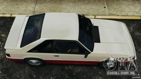 Ford Mustang GT 1993 v1.1 para GTA 4 vista direita