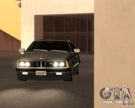 BMW M6 E24 para GTA San Andreas vista traseira