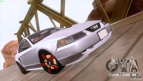 Ford Mustang GT 1999 para GTA San Andreas vista superior