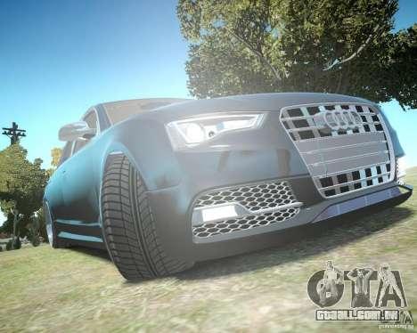 Audi A6 Avant Stanced para GTA 4 vista superior