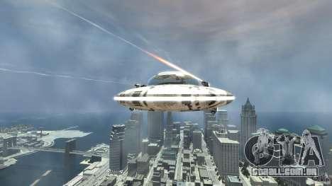 UFO ufo textured para GTA 4 vista de volta