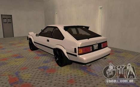 Toyota Celica Supra 2JZ-GTE 1984 para GTA San Andreas vista direita