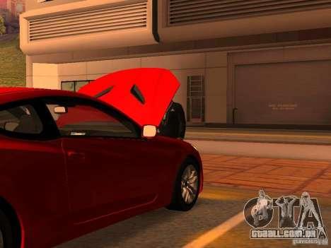 Hyundai Genesis Coupé 3.8 Track v 1.0 para GTA San Andreas interior
