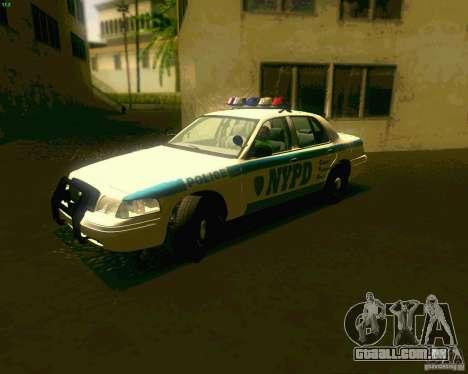 Ford Crown Victoria 2003 NYPD police para GTA San Andreas esquerda vista
