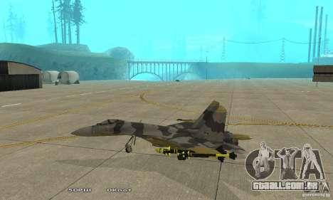 Su-37 Terminator para GTA San Andreas esquerda vista