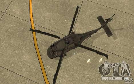 UH-80 para GTA San Andreas vista interior