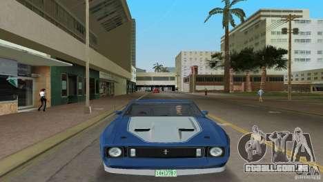 Ford Mustang 1973 para GTA Vice City vista traseira esquerda