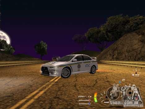 Mitsubishi Lancer Evolution X DPS para GTA San Andreas