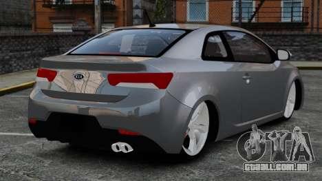 Kia Cerato Koup Edit para GTA 4 traseira esquerda vista