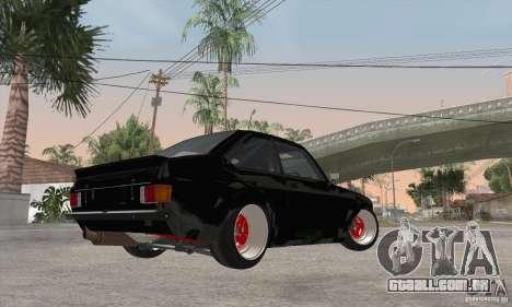 Ford Escort Mk2 para GTA San Andreas vista traseira