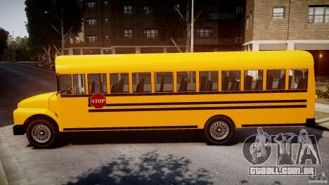 School Bus [Beta] para GTA 4 esquerda vista