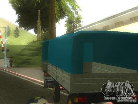 Reboque gkb-8536 para GTA San Andreas esquerda vista