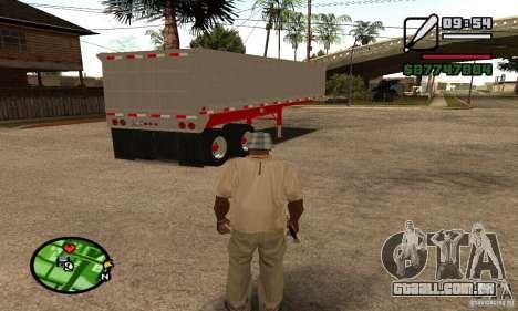 Artict3 Dump Trailer para GTA San Andreas vista traseira