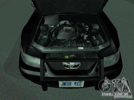 Ford Mustang GT Police para GTA San Andreas vista direita