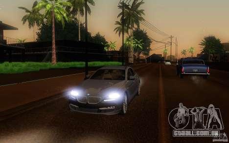 BMW 6 Series Gran Coupe 2013 para vista lateral GTA San Andreas