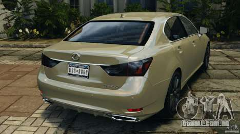 Lexus GS350 2013 v1.0 para GTA 4 traseira esquerda vista