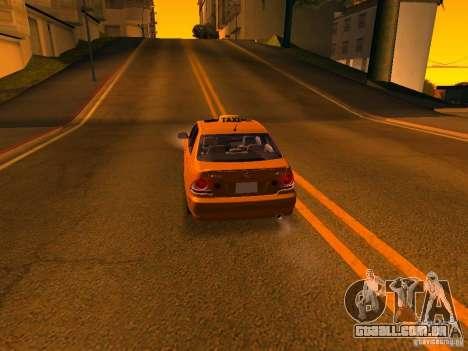 Lexus IS300 Taxi para GTA San Andreas vista inferior