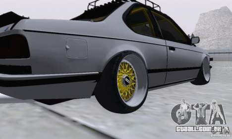 BMW M635CSi Stanced para GTA San Andreas traseira esquerda vista