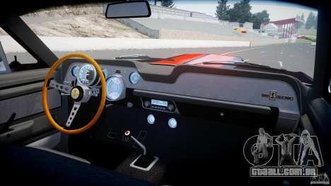 Ford Shelby GT500 1967 para GTA 4 vista inferior