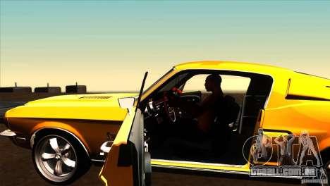 Shelby GT500KR para GTA San Andreas vista interior