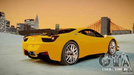 Ferrari 458 Challenge 2011 para GTA 4 vista de volta