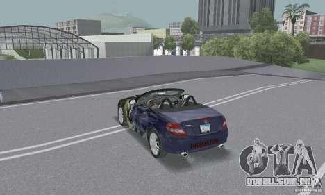 Mercedes-Benz SLK 350 para GTA San Andreas vista inferior