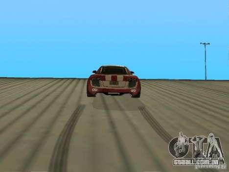 Audi R8 Le Mans NFS Carbon v2.0 para GTA San Andreas traseira esquerda vista