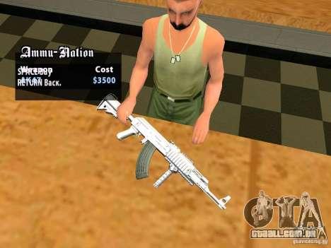 TeK Weapon Pack para GTA San Andreas