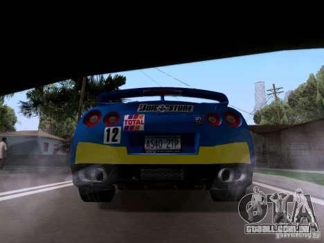 Nissan GTR 2010 Spec-V para GTA San Andreas esquerda vista