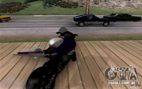 BMW S1000 RR para GTA San Andreas vista traseira