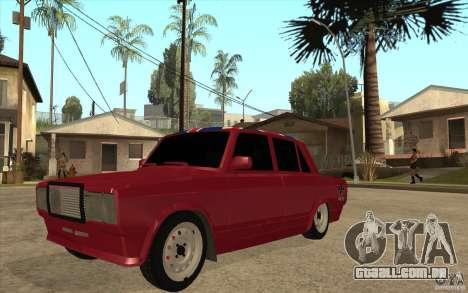VAZ 2107 Hobo, v. 2 para GTA San Andreas