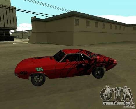Dodge Challenger 1971 TeamGo para GTA San Andreas esquerda vista