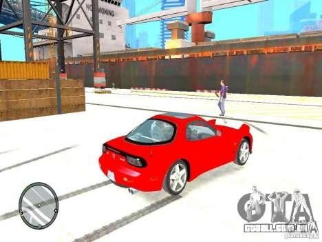 Mazda RX-7 Type RZ para GTA 4 traseira esquerda vista