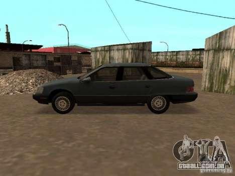 Mercury Sable GS 1989 para GTA San Andreas traseira esquerda vista
