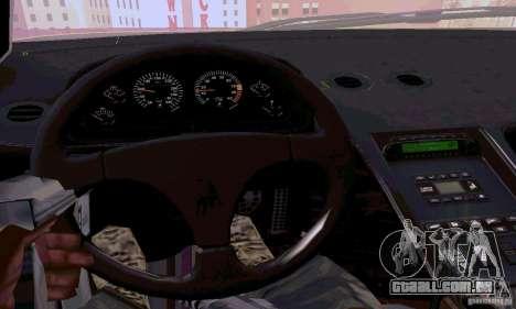 Lamborghini Diablo SV 1997 para GTA San Andreas vista interior