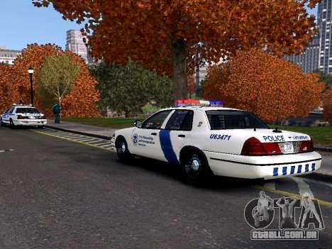 Ford Crown Victoria Homeland Security para GTA 4 traseira esquerda vista