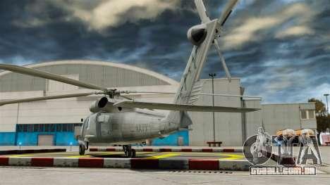 O helicóptero Sikorsky SH-60 Seahawk para GTA 4 traseira esquerda vista