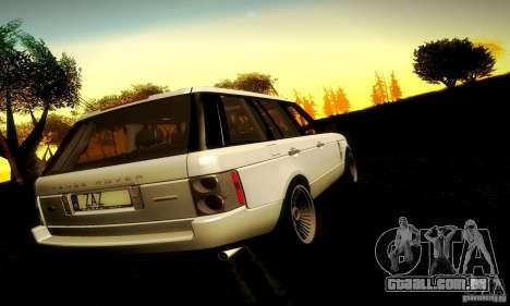 Range Rover Supercharged para GTA San Andreas vista interior