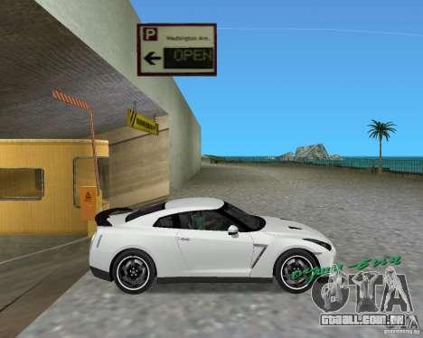 Nissan GT R35 Vspec para GTA Vice City vista traseira esquerda