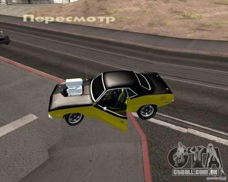 Plymouth Hemi Cuda 440 para GTA San Andreas vista superior