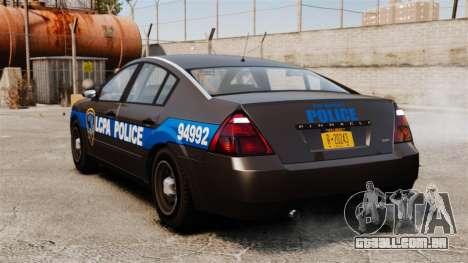FBI Pinnacle ESPA para GTA 4 traseira esquerda vista