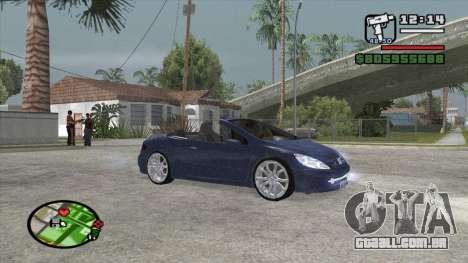 Peugeot 307 BMS Edition para GTA San Andreas esquerda vista